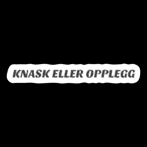 KNASK ELLER OPPLEGG - Sticker