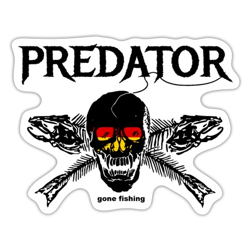 predator fishing / gone fishing - Sticker