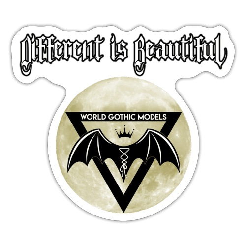 Different is Beautiful with Moon WGM Logo - Sticker