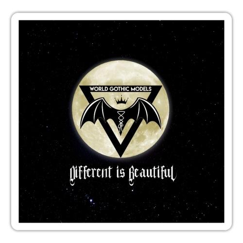 WGM Logo & Different is Beautiful Night Version - Sticker
