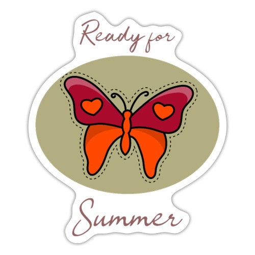 Ready for Summer Butterfly - Sticker