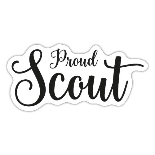 Proud Scout Lettering Black - Sticker