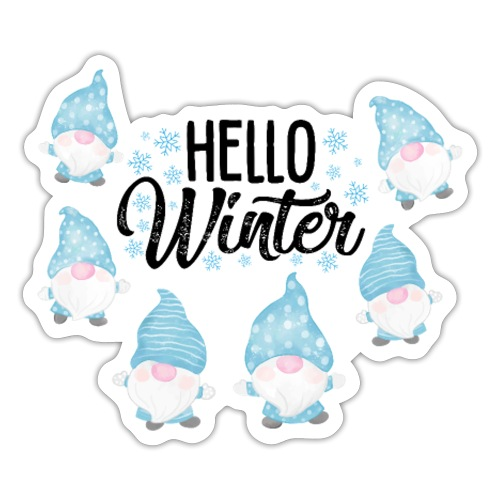 Hello Winter Gnomen - Sticker