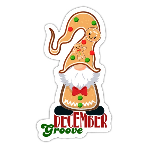 December Groove - Sticker