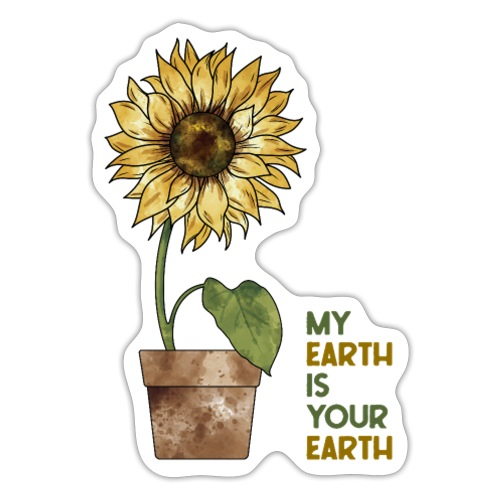 My earth is your earth - Sticker