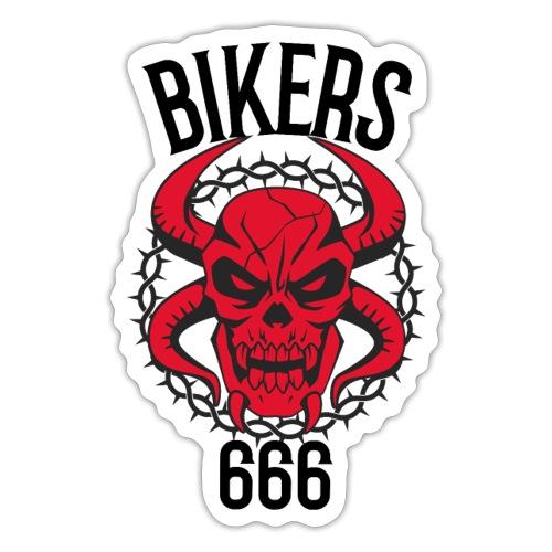 biker devil - Autocollant