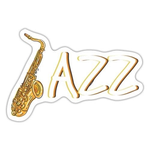 JAZZ Saxophon Saxofonist Shirt Geschenk - Sticker