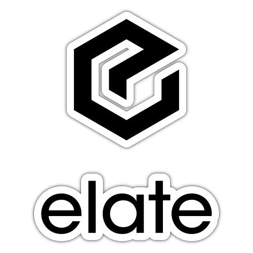 Elate logo vertikal - Klistremerke