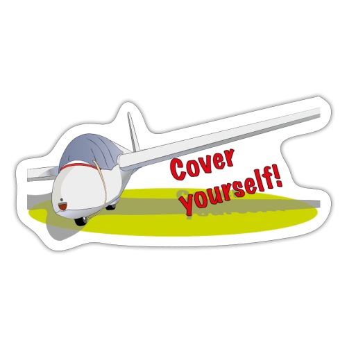 Cover yourself! - Sticker
