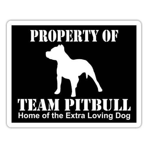 team pitbull home of the dark back - Naklejka