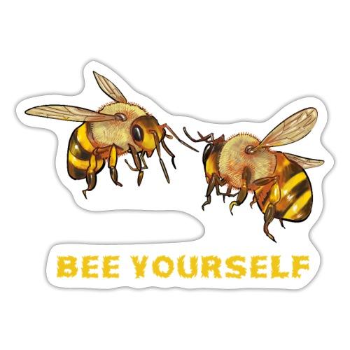 Bee yourself. Voor bijenliefhebbers, imkers. - Sticker