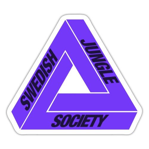 jungle triforce sticket purple - Klistermärke