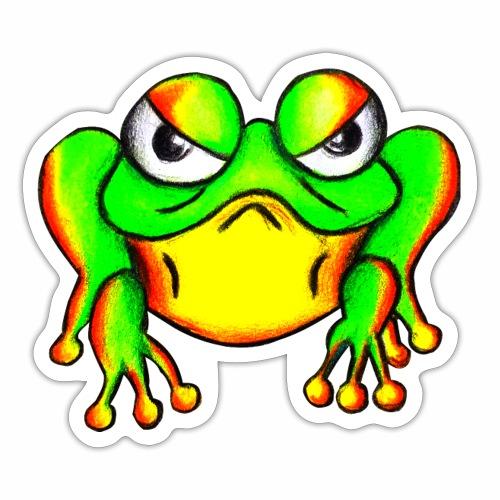 Boze kikker - Sticker