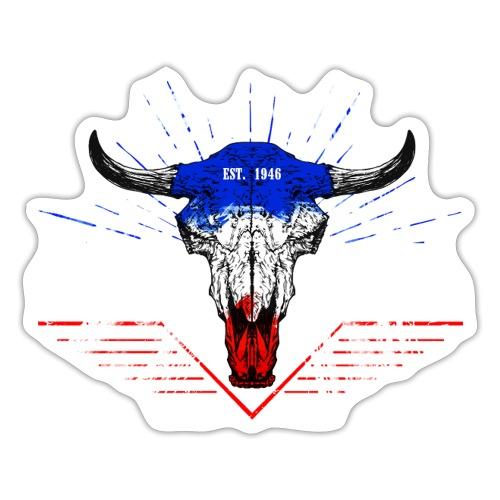 Bull Skull North Sea Baltic Sea - Sticker