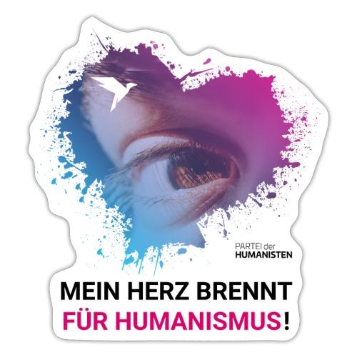 Mein Herz brennt für Humanismus! - Sticker