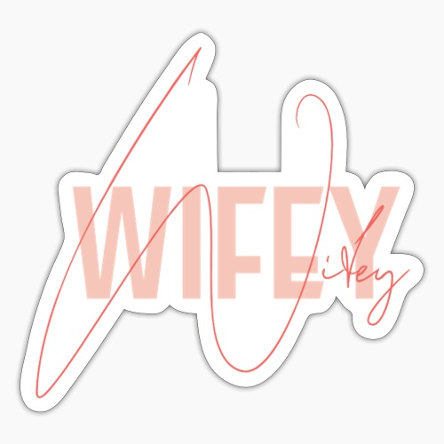 Wifey in rose / red - saying for wives - Sticker