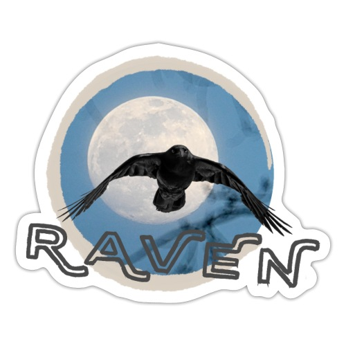 Australian Raven Full Moon - Sticker