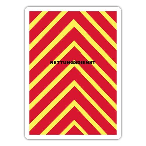 Rettungsdienst Heckwarner - Sticker