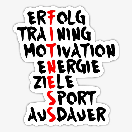 Fitness- Erfolg Training Motivation - Sticker
