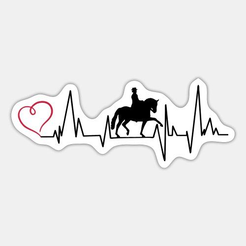 Heartbeat Dressurreiterin klassisch Herz - Sticker