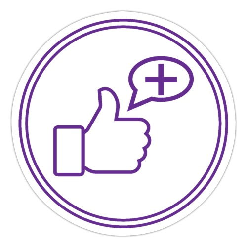 Stay Positive Icons and circle - Sticker