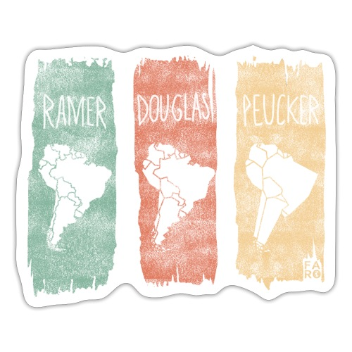 Ramer-Douglas-Peucker Stripes - South America - Sticker