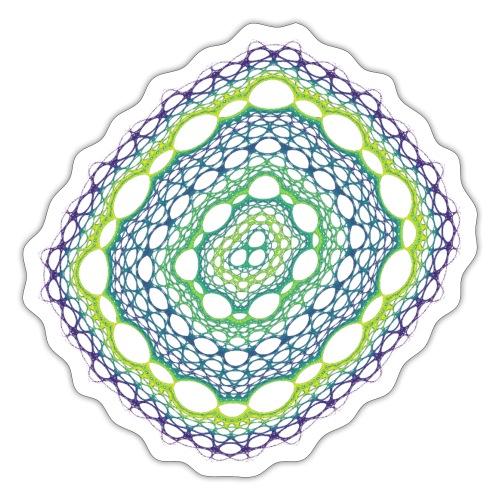 Smaragdgewebe gesponnen aus dem Chaos 5320viridis - Sticker
