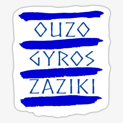 Ouzo Gyros Zaziki - Sticker