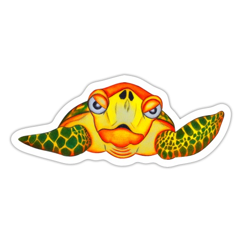 Angry Turtle Fluo - Autocollant