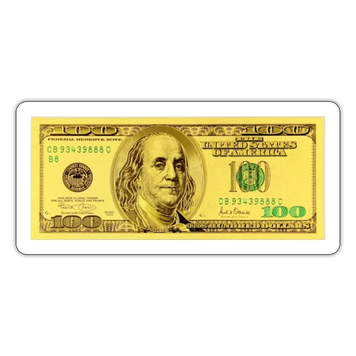 Luksus Dollar Tegn Box. - Sticker