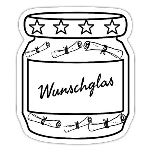 Wunschglas - Sticker