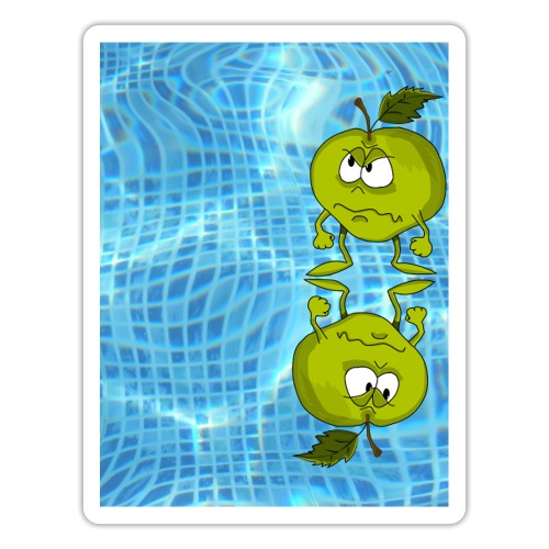 angry appel - Sticker