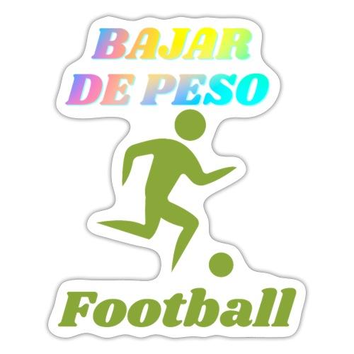 El football para perder peso - Pegatina