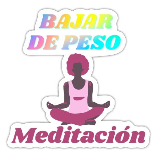 Yoga y meditación - Pegatina