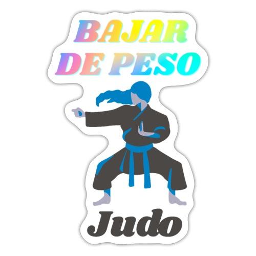 El Judo ayuda a perder peso - Pegatina