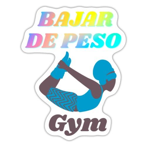 Gym para bajar de peso - Pegatina