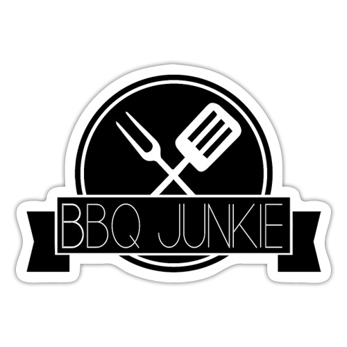 BBQ Junkie Logo Zwart - Sticker