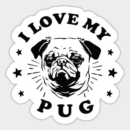 I LOVE MY PUG - Sticker
