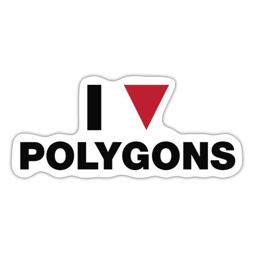 I Love Polygons - Sticker