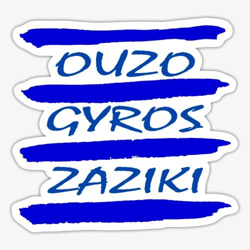 Zaziki Gyros Ouzo - Sticker