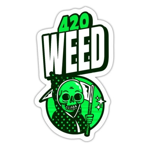 420 weed - Autocollant