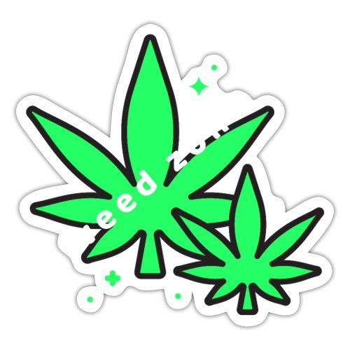 420 weed zone - Autocollant