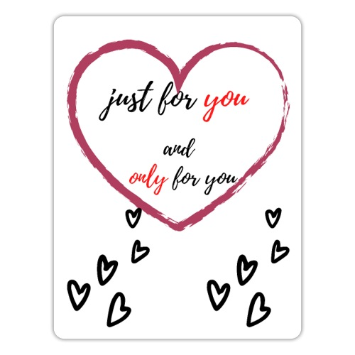 just for lovers design - Sticker