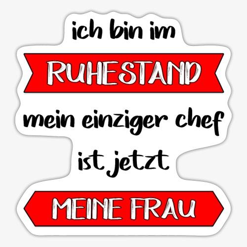 Ruhestand Rentner - Sticker
