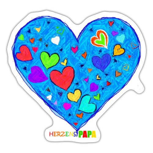 Herzenspapa - Sticker