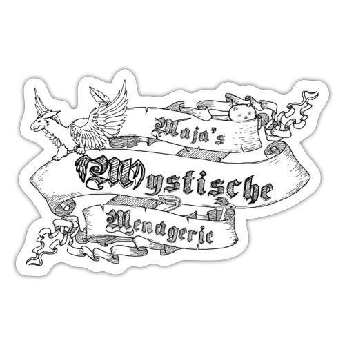 Schriftband Maja's Mystische Menagerie - Schwarz - Sticker