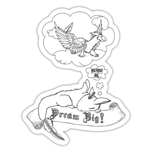 Dream Big (Tiny der Wolkendrache) - Schwarz - Sticker