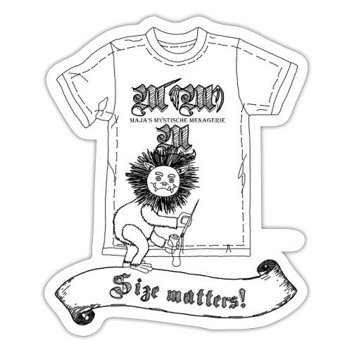 Size matters (Karlchen die Kalorie) - Schwarz - Sticker