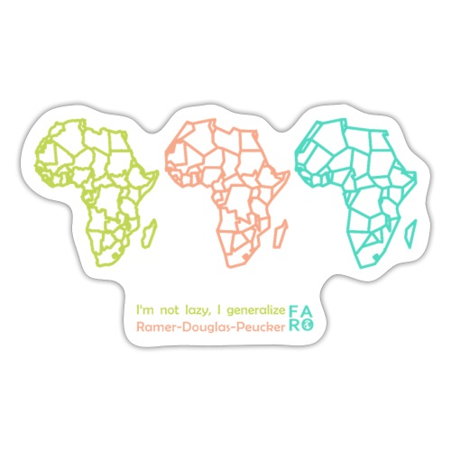 Ramer-Douglas-Peucker Algorithm -Africa - Sticker