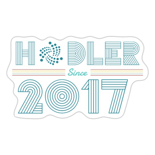 IOTA Hodler since 2017 - Sticker